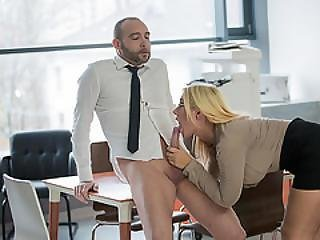 Blonde, Business Woman, Cream, Creampie, Dick, Doggystyle, Fucking, Hungarian, Teen, Workplace