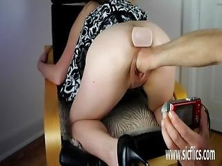 Fisting And Pissing On The Teen Slut