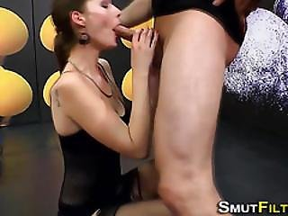 Fetish Bitch Slurps Jizz