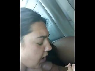 Interracial Car Blow Job