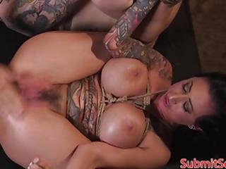 Tattooed Babes Dominated And Pussyfucked