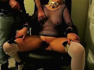 Slave Gets Her Tits And Cunt Beaten