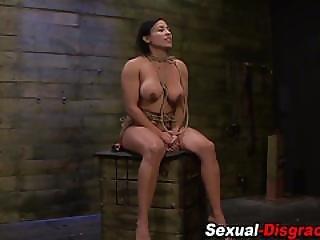 Bound Bdsm Slave Toyed
