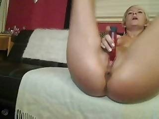 Raunchy Amateur Fuckslut Tease Her Juicy Moist Snatch With Her Favorite Toy
