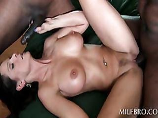 Trashy Milf Takes Two Black Cocks At Once