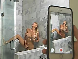 Busty Blonde Milf Alexis Fawx Fucks Under Shower