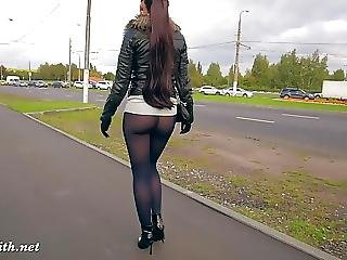 Jeny Smith Black Pantyhose Pretend To Be Leggings