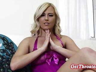 Blonde Babe Stacy In Sexy Lingerie