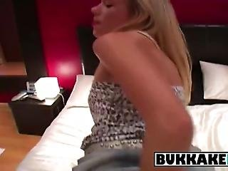 Claudia Gets Mouthfucked By Several Men When She Is Seduced Into An Orgy She Sucks On Them Til They Cum All Over Her Face
