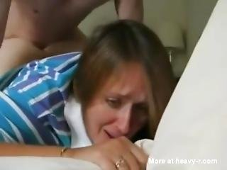 Mom Gets Fucked Up Her Butt And It Seems To Hurt