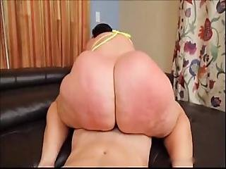 Bbw bouncer in fishnets rides his cock - 4 8
