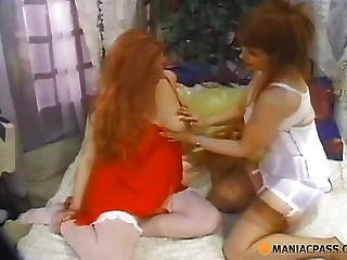 Pregnant Bitch Stretches Her Negligee