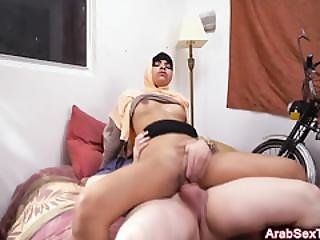 Big Titted Arab Babe Gets Fucked By A Hard White Dick