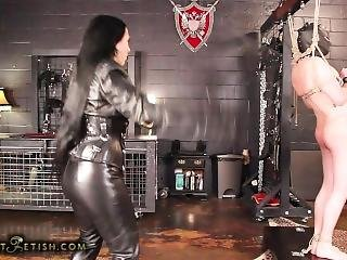 Leather domination cummie the painal cum 9