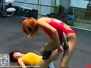 Wrestling 0017; Nakanishi Keiko Vs Hidaka Yuria Part2