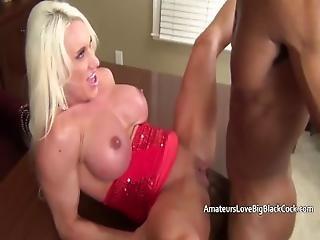 Muscular Mature With Swollen Clit Fucks Big Black Cock
