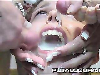 MOUTHS OF CUM Daniela Leon