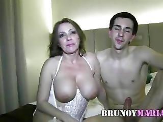Maduraza Tetona Se Folla A Otro Jovencito De Brunoymaria