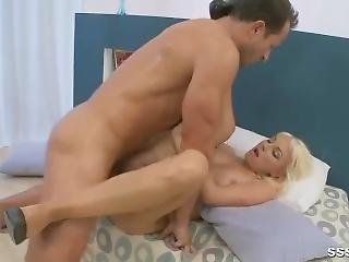 Hot Submissive Blonde Dominated With Intense Blowjob