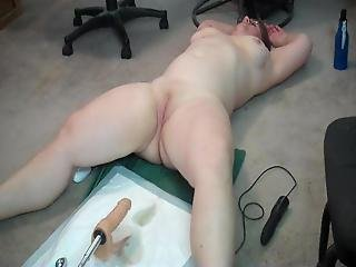 Chubby Wife Machine Fucked And Baby Dick Sissy Hubby Helps