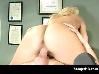 Smoking Hot Blonde Starts Working Hardcore For Her Grades