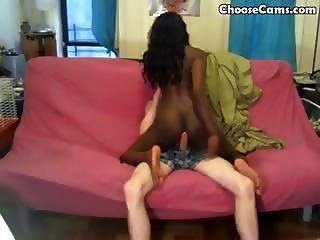 Black Girl Fucks White Cock