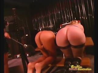 Spanking And Wax Drip Play For Two Sex Servants