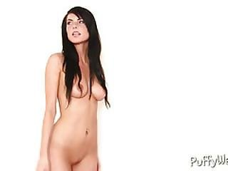 Dark Haired Beauty Gets Naked