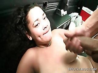 Curly Brunette Fucked Hard And Facialized
