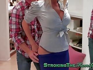 Sperma, Riesige Titten, Reife, Milf, Jugendliche