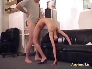 amatör, cumshot, flexibel, knullar, het tonåring, Tonåring