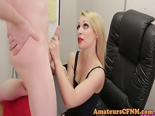 English Cfnm Femdom Wanking Submissive Dick