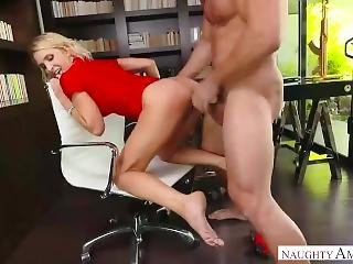 Big Tits Blonde Mom Alix Lynx Helps Son Cumming Out
