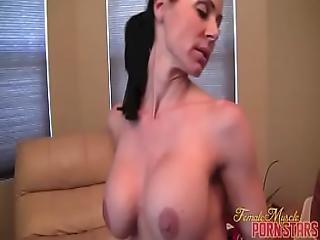 Muscular Porn Star Kendra Lust Fucks Two Guys