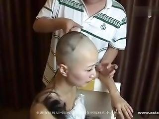 Chinese Bride Shaved Head