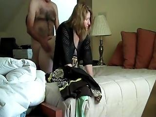 Hot Wife Having Fun With Boss On Business Trip In Hotel Room