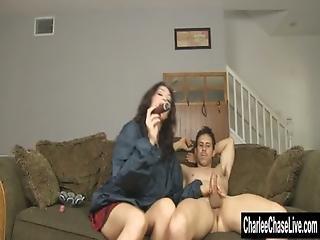 Cigar Sucking Fake Tit Milf Charlee Chase
