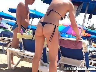 Micro Bikini Thong Big Ass Milf Beach Voyeur Hd