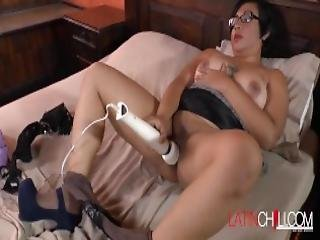 Mature Latina Is Playing With Her Body And Toys