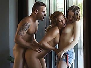 Teen Soccer Fans Threesome With One Of The Players