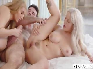 Vixen Two Curvy Roommates Seduce And Fuck Married Neighbor