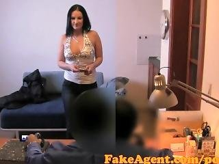 Fakeagent Horny Big Boobs Amateur Tricked Into Sex In Office