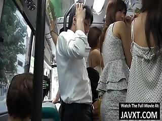 Asian Babes Fucked On The Japan Bus