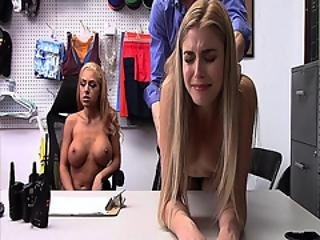 blonde, pipe, office, punition, chatte, Ados, trio