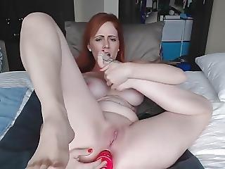 Redhead Anal Masturbation And Toes Sucking