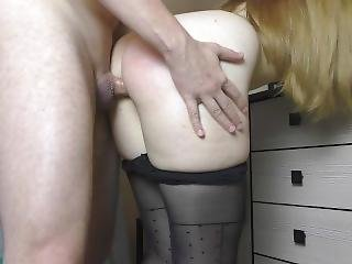 Fuck Teen Big Ass In Sexy Pantyhose - Handjob, Assjob
