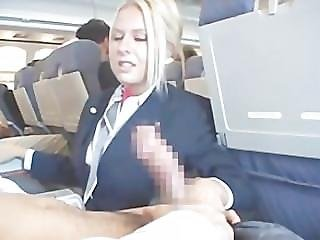 American, Blowjob, Handjob, Horny, Pornstar, Stewardess, Uniform