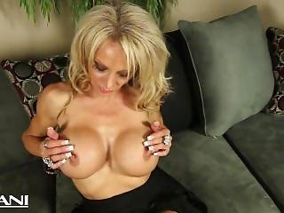 Fitness Babe Strips And Fingers Her Pussy And Rubs Her Big Clit