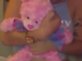 Girl Gets Fucked Holding A Teddy Bear