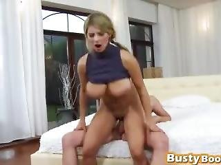 Blonde Milf With Huge Tits Getting Fucked Hard